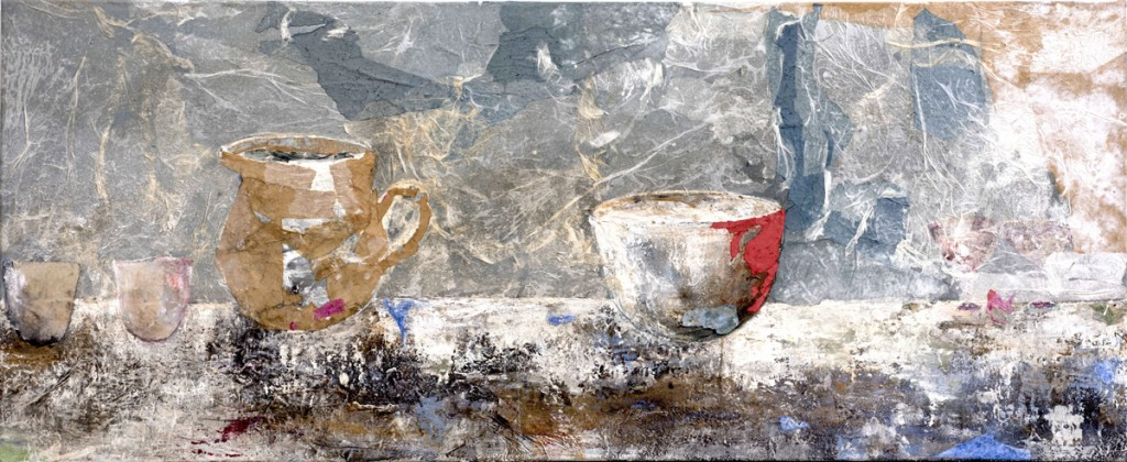 4 Table II Mixed media on canevas 70X170cm